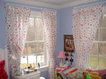 Beautiful Drapes for Girl's Room