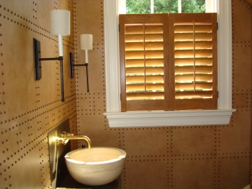 Leather Interior Powder Room