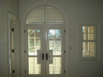 French Doors with Arch Shutter